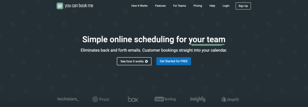 youcanbookme homepage