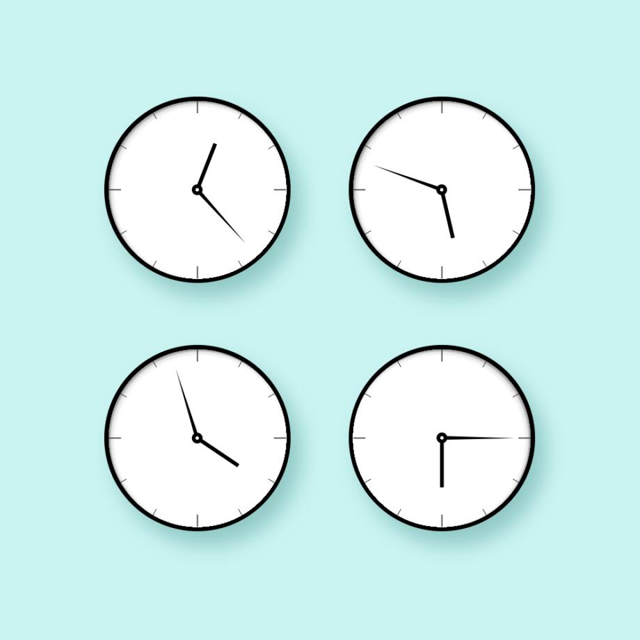4 clocks